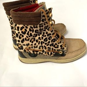 Sperry Top-Sider Hikerfish Ankle Boots Leopard